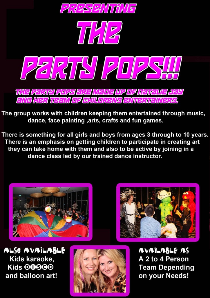 party pops flyer